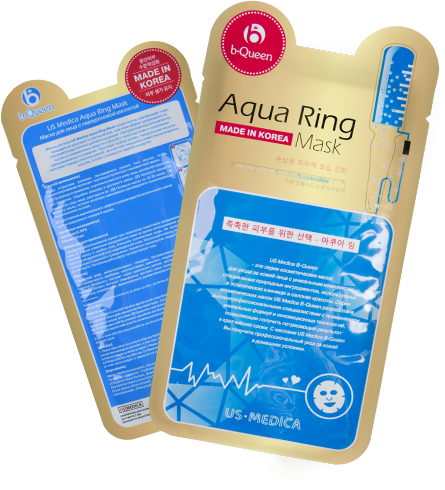 Маска для лица с гиалуроновой кислотой US MEDICA Aqua Ring Mask